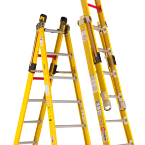 Fiberglass Step-Extension Combination Ladders