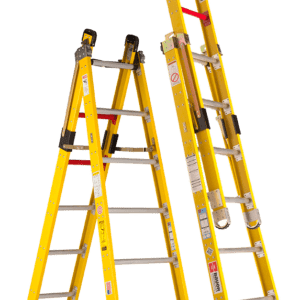 Fiberglass Step-Extension Combination Ladders